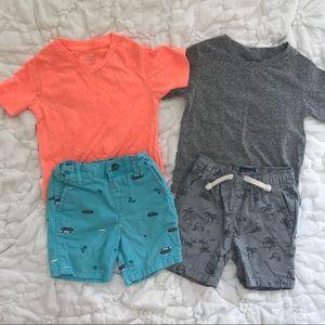 2T Boy Summer Separates/ 4 Pieces